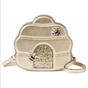 Kate Spade Down Rabbit Hole Beehive Gold Crossbody